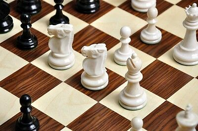 """The Reykjavik II Bone Chess Set - Pieces Only - 3.75"""" King"""
