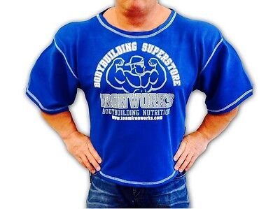 Royal Blue Team Ironworks Bodybuilding Clothing Workout Top