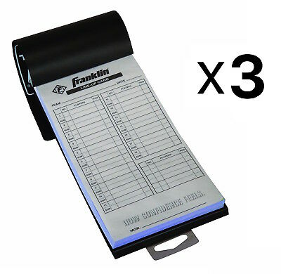 Franklin Sports MLB Baseball Softball Roster Lineup Cards 20 Games (3-Pack)