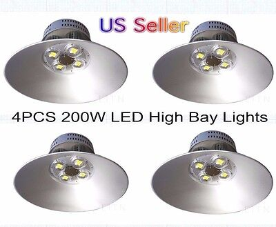 4X  200W LED High Bay Light for Industrial Factory Warehouse & Commercial Usage