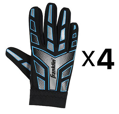 Franklin Sports Youth-Junior Receiver-Receiving Football Gloves-Large (4-Pack)