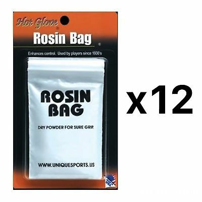 Unique Professional Grade Dry Rosin Bag Baseball Softball Bat Grip (12-Pack)