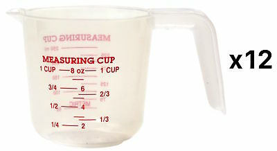 Norpro Translucent Measuring Cup 1-Cup Dry & Liquid Dishwasher Safe (12-Pack)