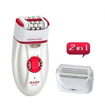 2 in 1 Rechargeable Epilator Lady Ladies Hair Removal Shaver Shaving Trimmer