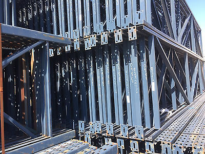 Used Pallet Rack Shelving Racking channel scaffolding 9 sections t-bolt tbolt