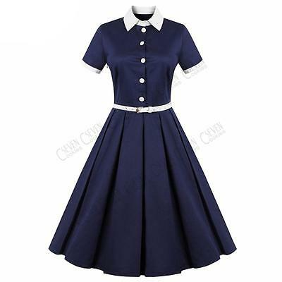 Womens Vintage 1940s 1950s 60s Dress Rockabilly Evening Party Swing Tea Dresses