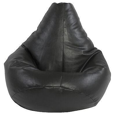 XXL Highback beanbag filled beanbags bean bag gamer gaming chair beanbag Black