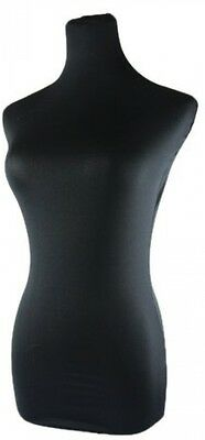 Covered Mannequin Bust Form Dress Cover Female Body Dummy Black Top Model Size