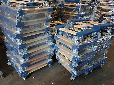 """Set of 50, NK Furniture Movers Dolly, Non-marking 4"""" TPR Wheels, Local Pickup"""