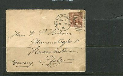 USA;   1897 early LETTER/COVER fine used  Germany