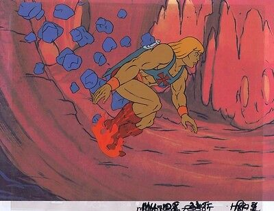 He-Man Masters of the Universe Original Animation Cel & Copy Bkgd #A11780