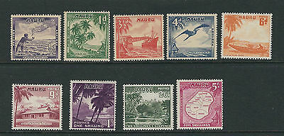 NAURU 1954 definitives complete (Scott 39-47) F/VF MNH