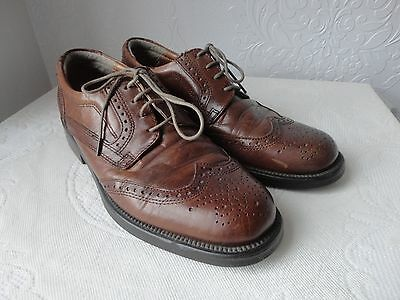 1940's WW11 Men's Vintage Brown Leather Brogues Size 8