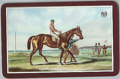 Swap/Playing Vintage Card -Linen finish- Racing - T.G. Cnr. in a horseshoe