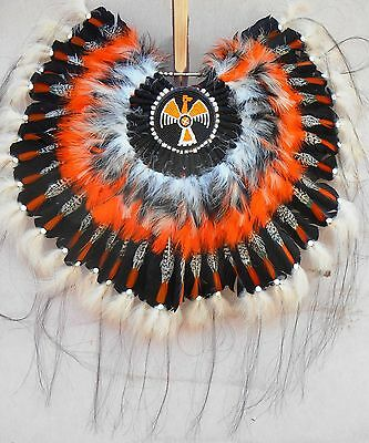Genuine Native American Navajo Indian headdress THUNDERBIRD BUSTLE ONLY 36""