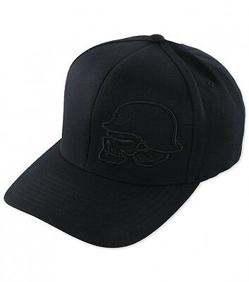 Black On Black X Games Metal Mulisha Freestyle Merit Hat Cap Flexfit Curved S/m