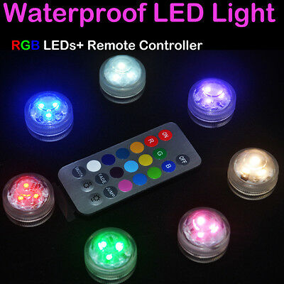 Waterproof LED RGB Submersible Light Wedding Party Vase Lamp With Remote Control