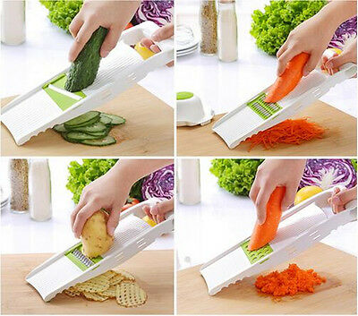 1 set Stainless Steel Slicer Vegetable Fruit Mandoline Cutter Kitchen Food