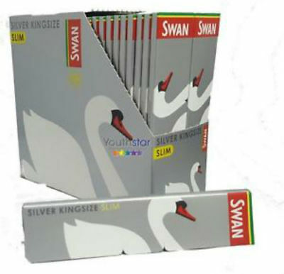 Swan Silver Rolling Paper King Size Full Box Of 50 Books