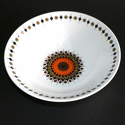 "VINTAGE RETRO 1970's J&G MEAKIN STUDIO ""INCA"" LARGE SERVING BOWL FLOWER POWER"