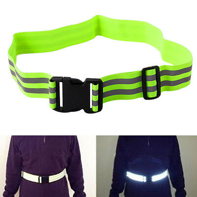 Reflective High Visibility Safety Security Belt For Night Running Walking Biking