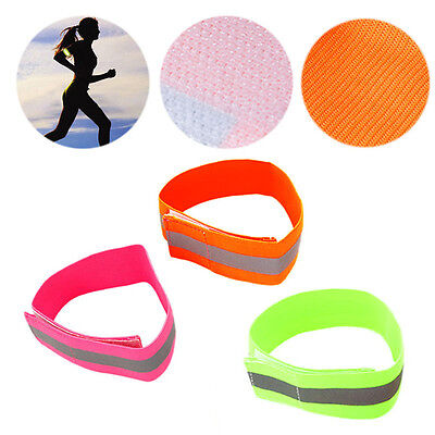 Reflective Safety Arm Band Belt Strap For Outdoor Sports Night Running Biking