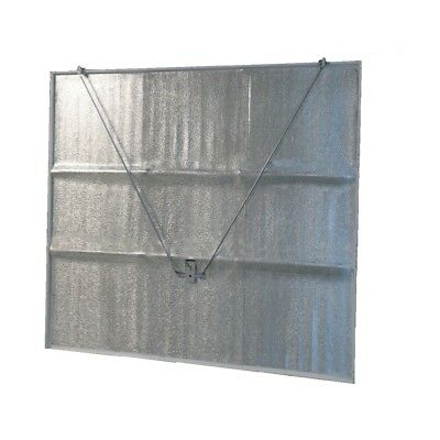 Aluminium Faced Sticky Back Insulation For A Garage Door With Size Choice