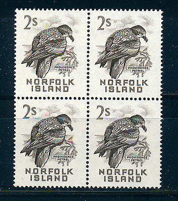 Norfolk Island 1960-62 Definitives Sg32 2/- (Bird) Block Of 4 Mnh