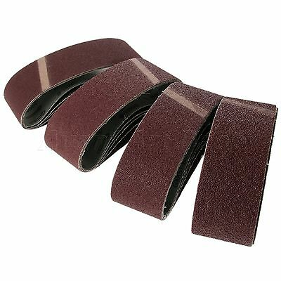 "TASP 3""x21"" 75x533mm Sanding Belts Grit 40 60 80 120 Power Tool Sander Accessory"