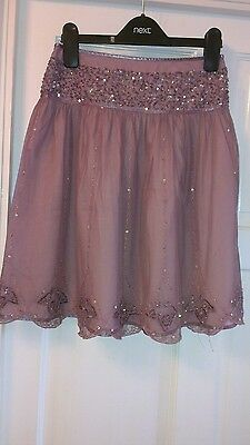 Lovely condition NEXT gorgeous pink beaded/sequined skirt 10 years