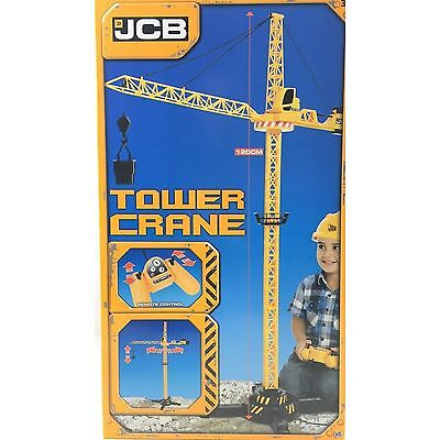 JCB Remote Control Tower Crane With Bucket & Accessories Boys Building Toy NEW