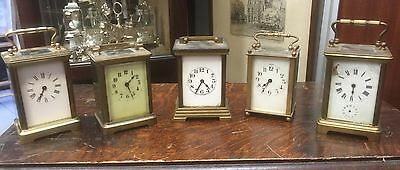 Collection Of Antique Brass Carriage Clocks. Open To Offers.