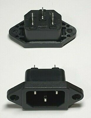Power Socket Connector AC 250V 10A - Kettle Plug Jack 3 Pin IEC320 - Free UK P&P