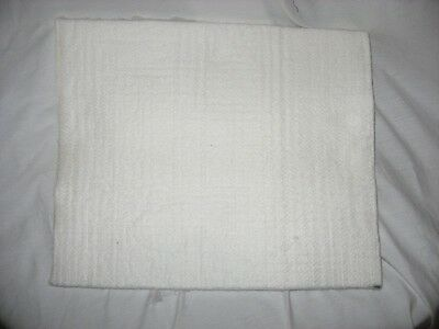 White Nomex Felt Heat Pad Size 15 X 15 X .5 Inches New Sublimation