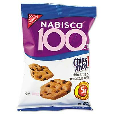 Nabisco. 610 100 Calorie Chips Ahoy Chocolate Chip Cookie, 6 Packs-Box