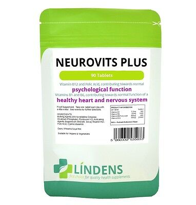 Neurovits x 90 Tablets - Vitamine B-12 500mcg