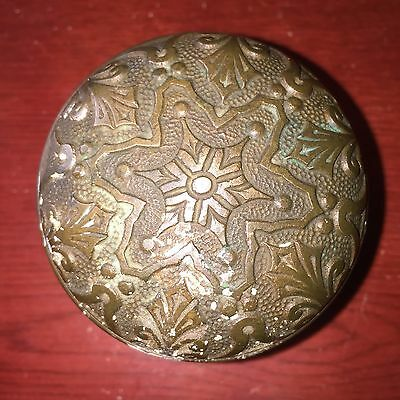 Antique Neo-grec Style Cast Bronze Door Knob Branford Lock Co.