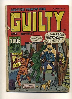 Justice Traps the Guilty 18 (FR) 1950 Prize S&K cover Severin art (c#10402)