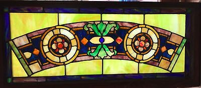 Outstanding colors in this Vibrant stained glasswindow
