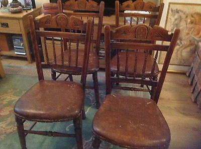 Set Of Four Arts And Crafts Dining Chairs Lovely Gothic Ecclesiastical