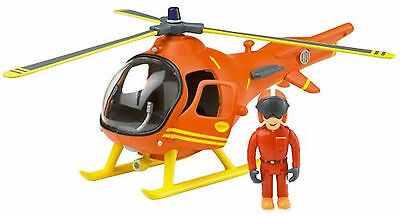 Fireman Sam Rescue Helicoptor with Tom Figure and Working Blades Toy Playset New