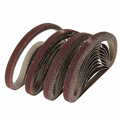 "1/2""x18"" Powerfile Sanding Belt Grit 40 60 80 120 for Black & Decker 10/20/50Pcs"