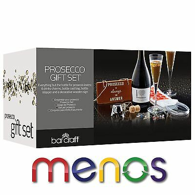Bar Craft Nine Piece Prosecco Gift Set - Wine Beverage Perfect Preasent
