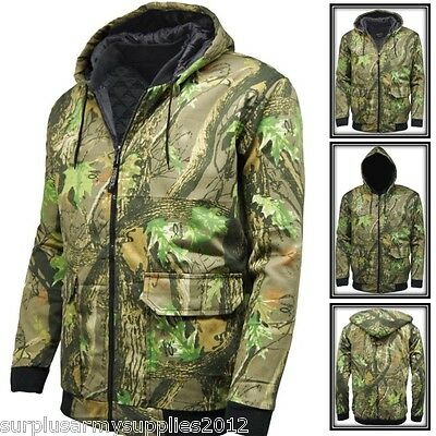 Mens Hunting Camouflage Bomber Jacket Country Tree Camo Stormkloth Hoodie