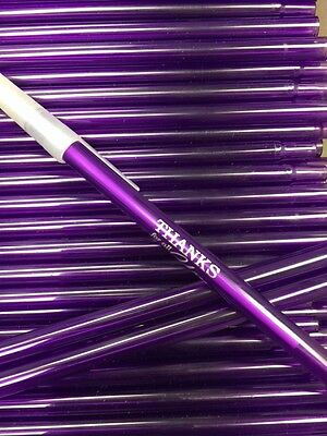 Pretty Purple Stick Pens (30) w. Thankful Message for Co-Workers or Employees!