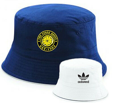 The Stone Roses Established 1983 Reversible Adored Bucket Hat - Navy & White