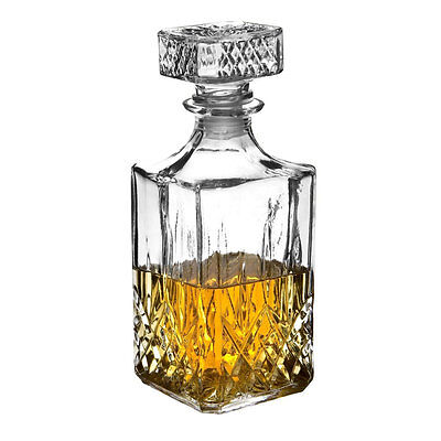 Glass Whiskey Decanter Sherry Brandy Cognac Liquer 900Ml Decorative Glass Gift