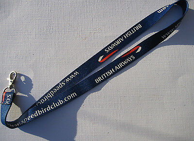 British Airways Speedbird Club Schlüsselband Lanyard NEU (A52)
