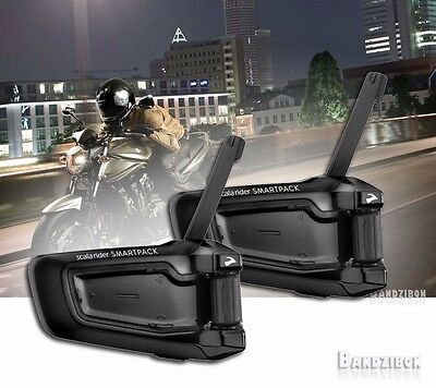 Cardo Scala Rider Smartpack Duo Bluetooth Motorcycle Communication System Duoble