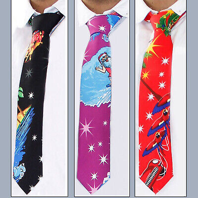 Christmas Ties Premium Quality 3D Novelty Fancy Party Dress Neck Xmas Tie Santa